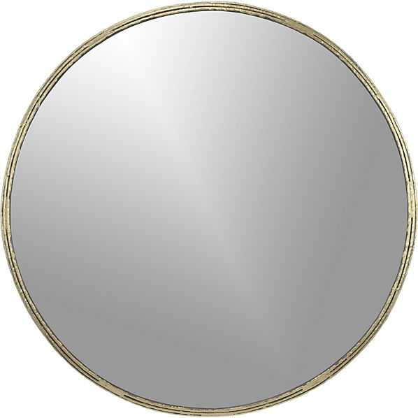 "Tork brass dripping 30"" wall mirror - CB2"