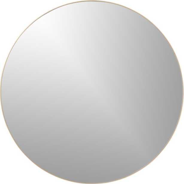 "Infinity 36"" round brass wall mirror - CB2"