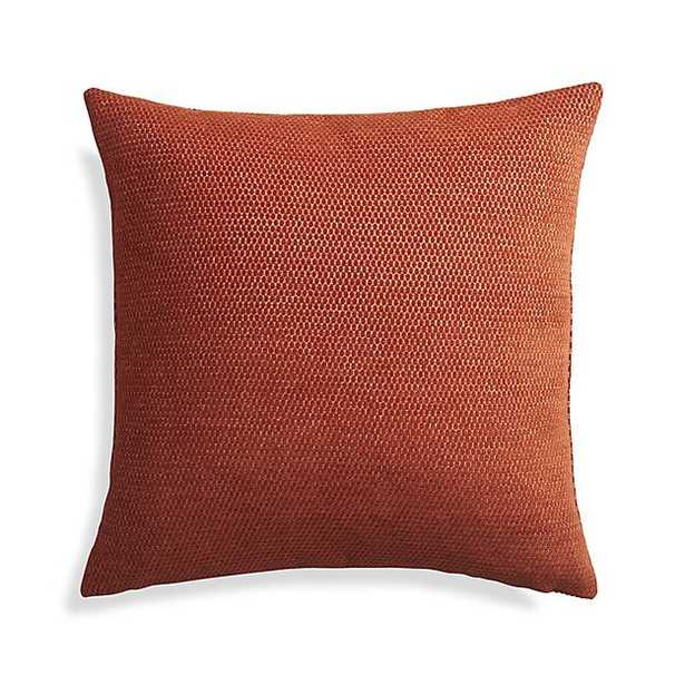 """Maura Orange 23"""" Pillow with Down-Alternative Insert - Crate and Barrel"""