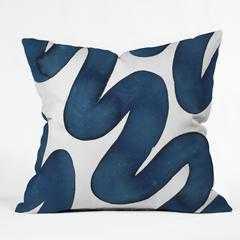 BLUE SWIRLS - 18''x18''- With Insert - Wander Print Co.