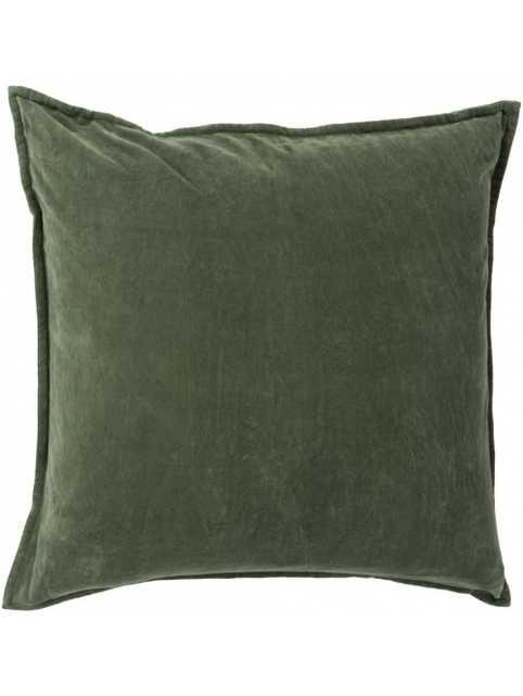 Maxen Pillow -  Dark Moss  - 20x20- Polyester Filled - Lulu and Georgia