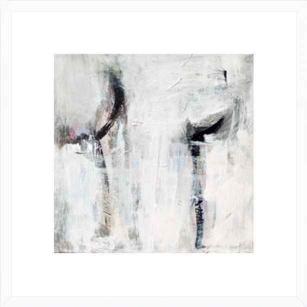 """Untitled - 16"""" x 16"""" - White Wood frame with Mat - Artfully Walls"""