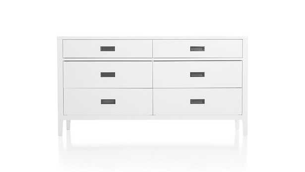 Arch White 6-Drawer Dresser - Crate and Barrel