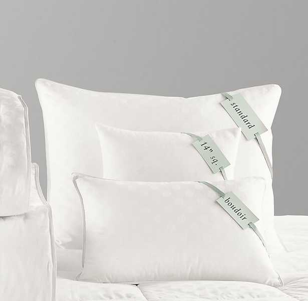 """Feather-Down  Pillow Inserts- 12"""" x 18"""" - RH Baby & Child"""