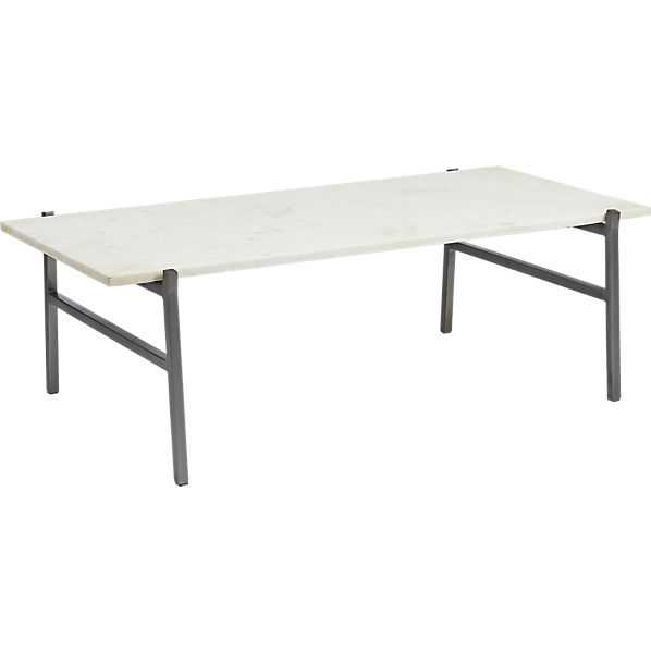 Slab marble coffee table - CB2