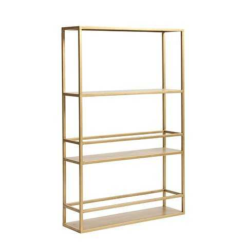 Abbott Slim Shelf - Gold - Ballard Designs