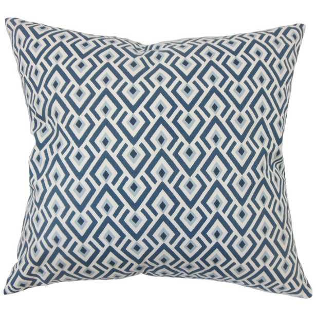 "Abhinav Geometric Pillow - 18"" x 18"" - Down Insert - Linen & Seam"