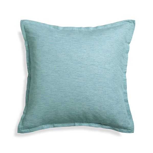"""Linden Ocean 23"""" Pillow With Down-Alternative Insert - Crate and Barrel"""