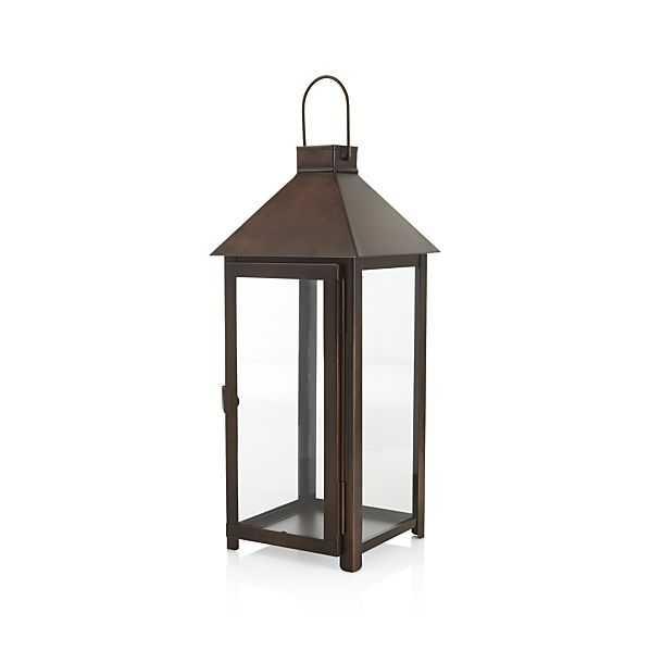 Knox  Bronze Metal Lantern - Large - Crate and Barrel