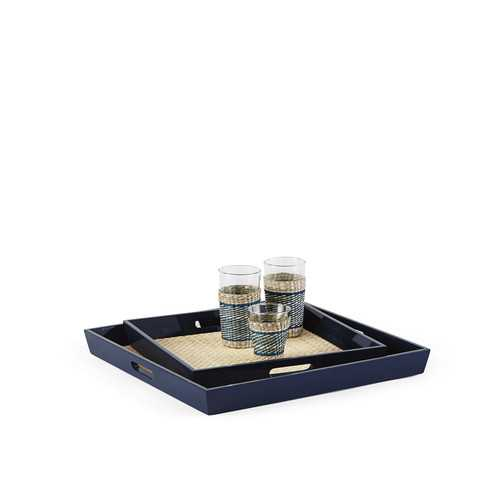Lacquer Rattan Tray - Serena and Lily