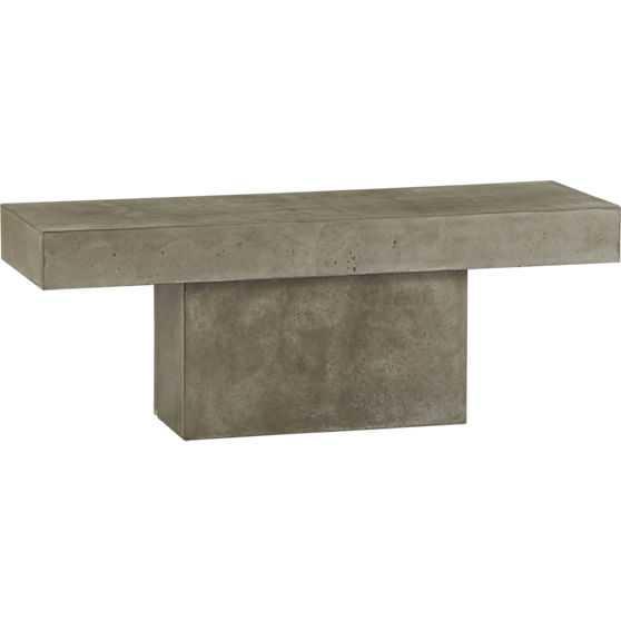Fuze grey bench - CB2