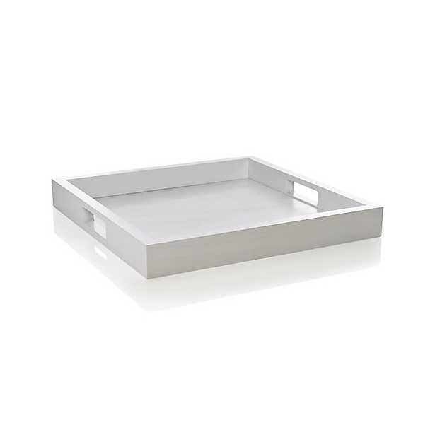 Zuma White Tray - Crate and Barrel