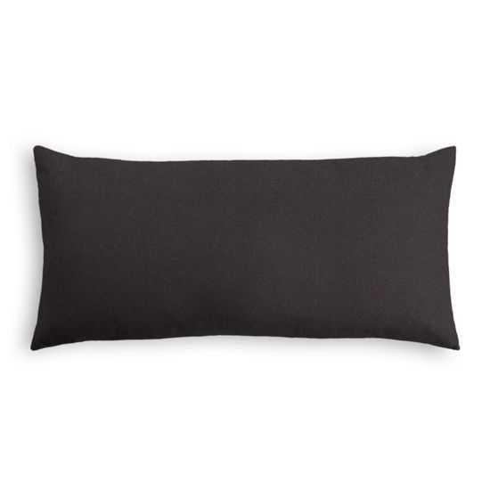 "Lumbar Pillow - Classic Velvet - Charcoal - Poly Fiber Insert - 12"" x 24"" - Loom Decor"