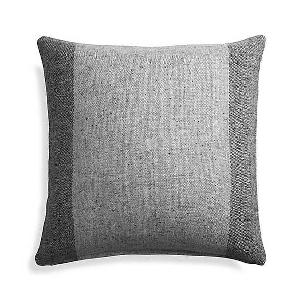 """Avi Graphite 23"""" Pillow with Feather-Down Insert - Crate and Barrel"""