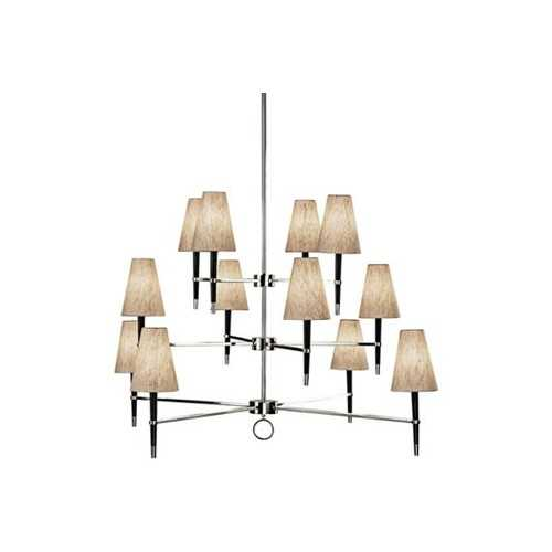 Ventana Modern Nickel Three-Tier Jonathan Adler Chandelier - Lamps Plus