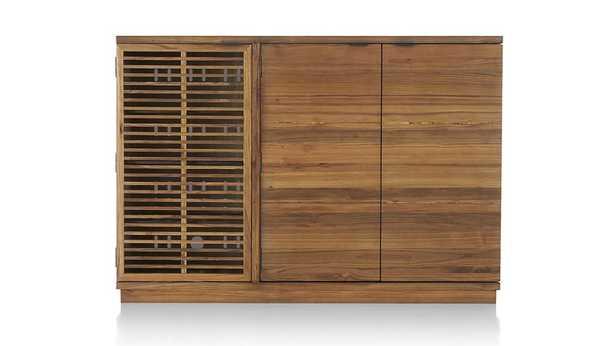 Marin Natural Large Bar/Media Cabinet - Crate and Barrel