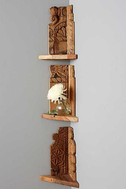 Salvaged Wood Corner Shelf - Anthropologie