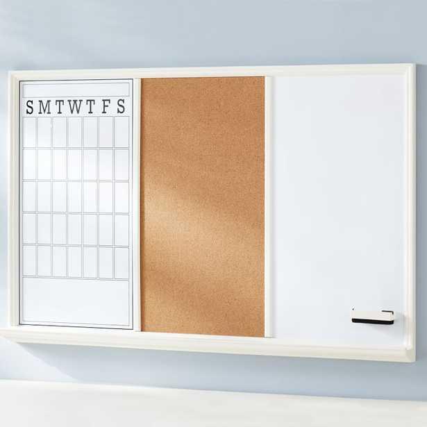 Study Wall Boards - White Frame Triple - Pottery Barn Teen