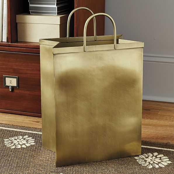 Bunny Williams Shopping Bag Waste Bin - Ballard Designs