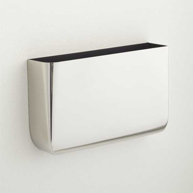 Revere silver wall mounted storage - CB2