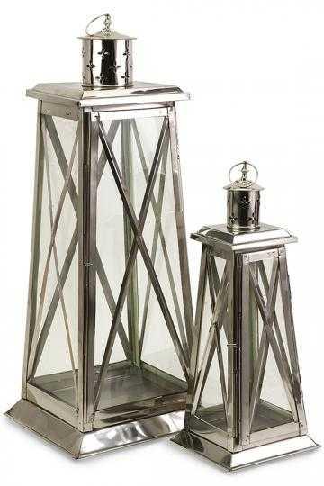 Regatta Steel Lanterns - Set of 2 - Home Depot