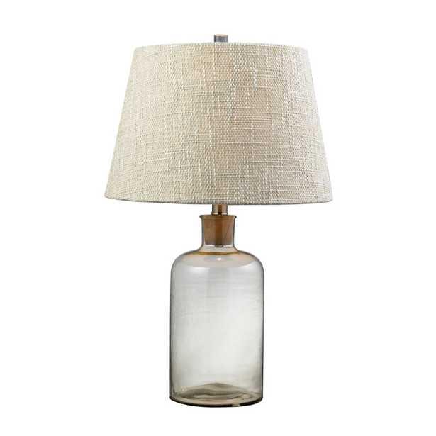 Clear Glass Bottle Table Lamp With Cork Neck - Rosen Studio