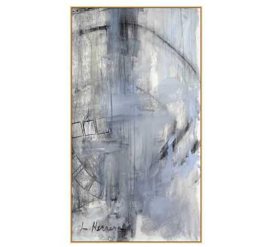 "Orbit Study #2 Wall Art - 20"" x 36"" - Natural Frame - Pottery Barn"