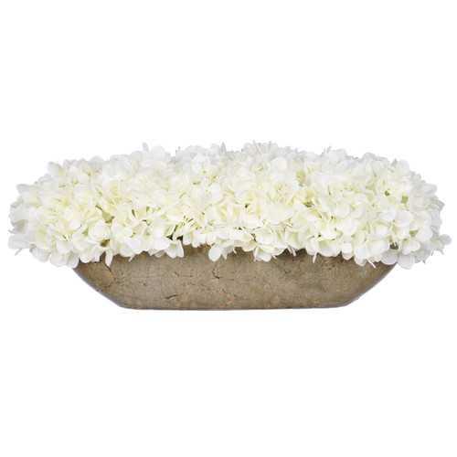 Artificial Hydrangea in Oval Ceramic Pot - Wayfair