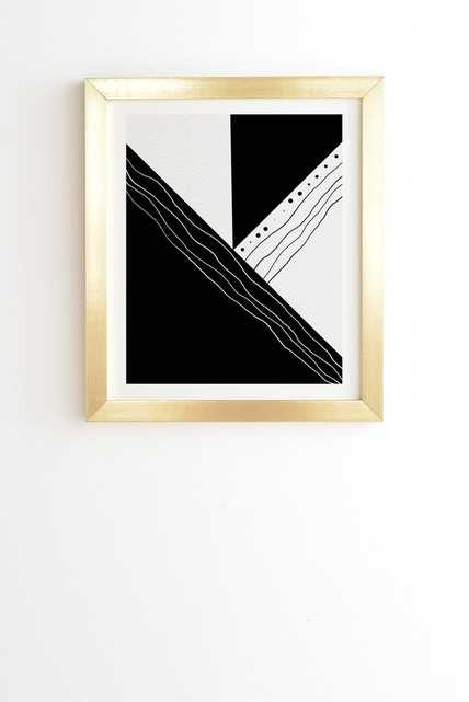 """BLACK AND WHITE COLLECTION 02 Wall Art - 14"""" x 16.5"""" - Gold Frame - No Mat - Wander Print Co."""