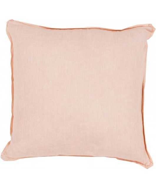 """Sage Pillow - Peachy Pink - 22"""" x 22"""" - Polyester Filled - Lulu and Georgia"""