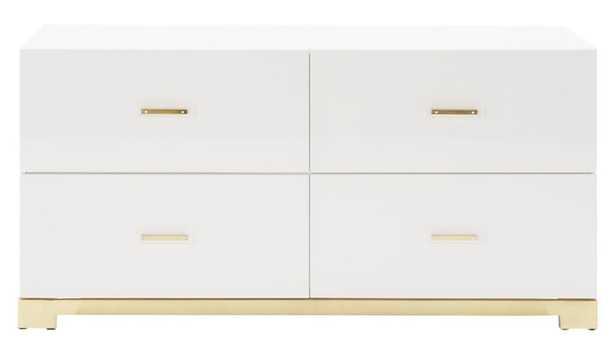 Odessa low white gloss dresser - CB2