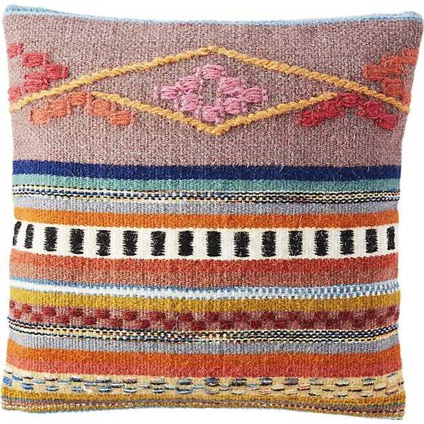 """Cusco 16"""" pillow with feather-down insert - Multicolored - CB2"""