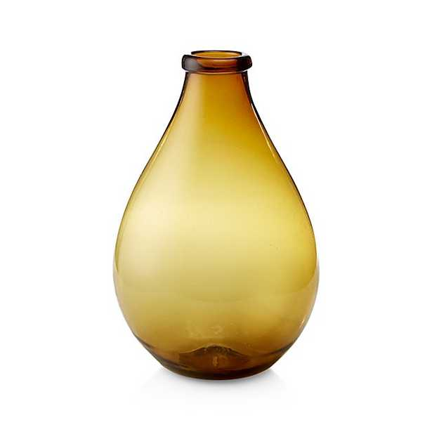 Amber Recycled Glass Floor Vase - Crate and Barrel