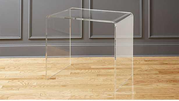 peekaboo acrylic office console - CB2