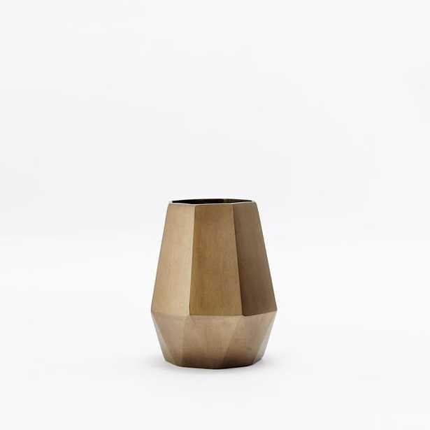 Faceted Metal Vase - Bud - West Elm