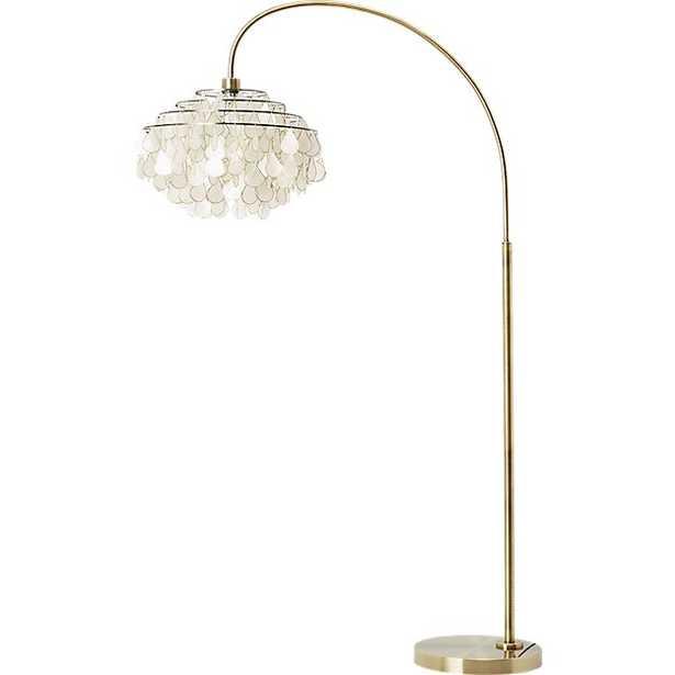 Teardrops arc floor lamp - CB2