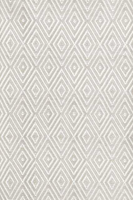Diamond Platinum/White - Indoor/Outdoor Rug  - 6' x 9' - Dash and Albert