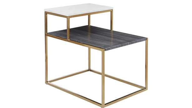 2 Tone Marble Side Table - CB2