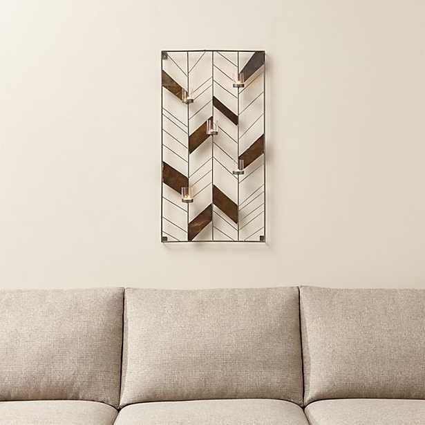 Chevron Metal Wall Candle Holder - Single - Crate and Barrel