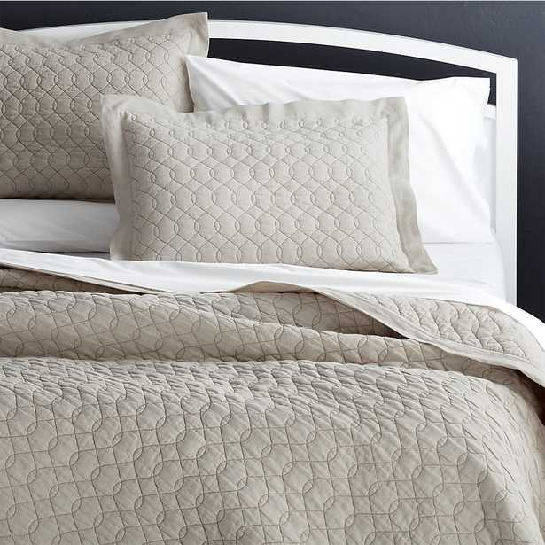 Elize Natural Quilt - Full / Queen - Crate and Barrel