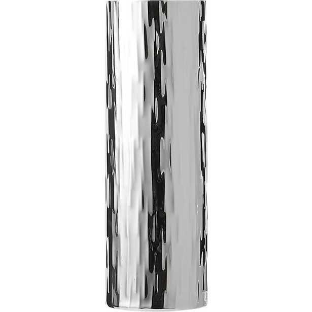 Ripple silver vase - CB2