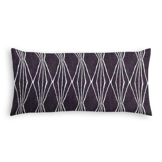 Lumbar Pillow - Handcut Shapes- Down Insert - Loom Decor