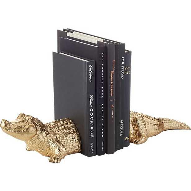 set of 2 alligator bookends - CB2