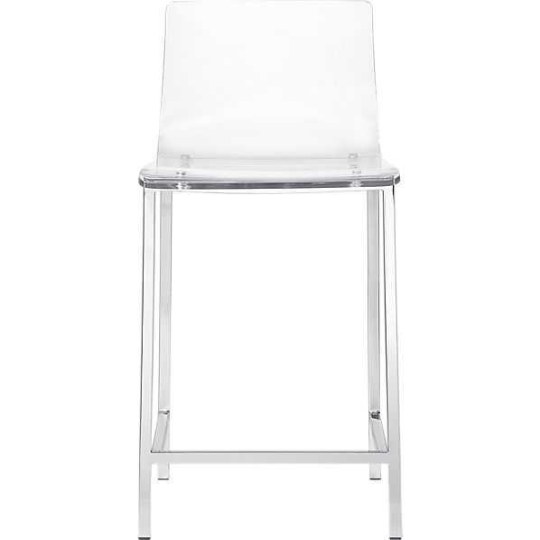 """Vapor 24"""" acrylic counter stool - CB2"""