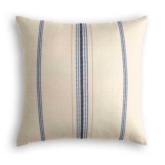 "Throw Pillow  Burlap Of Luxury - Blueberry - 20"" x 20"" - Poly Insert - Loom Decor"