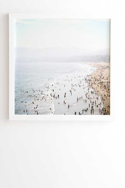 "La Summer - 30"" x 30"" - Framed (White) - Wander Print Co."