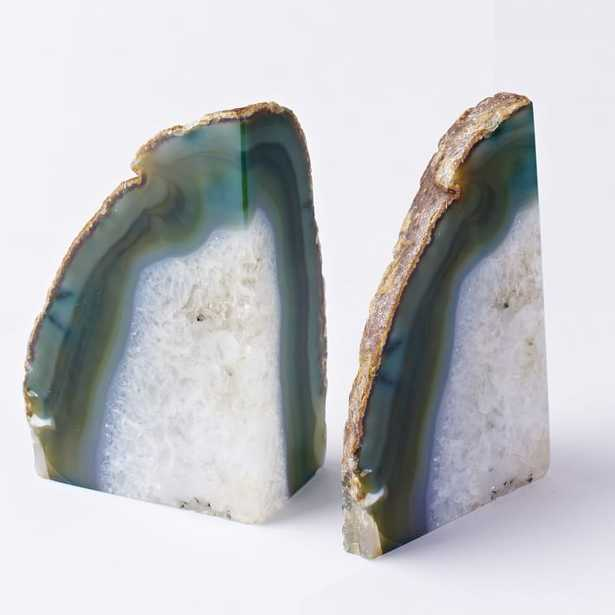Agate Bookends - Set of 2 - West Elm