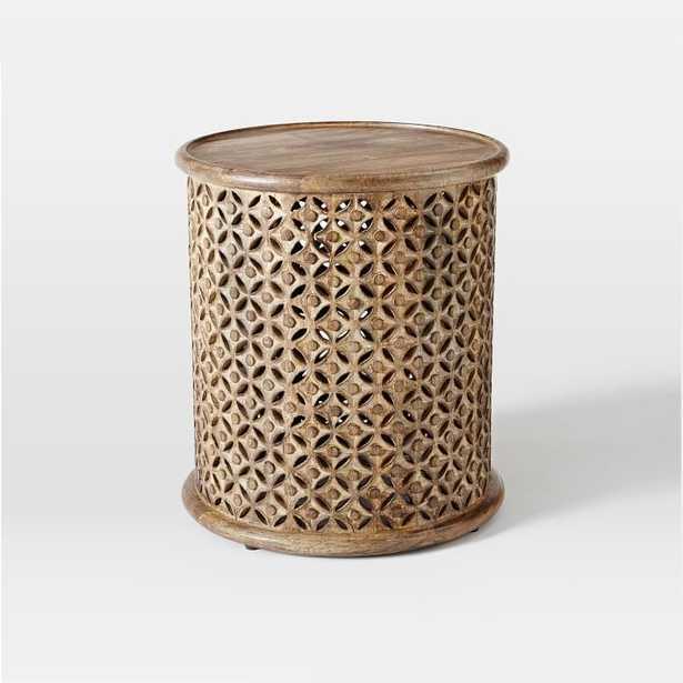 Carved Wood Side Table - Large - West Elm