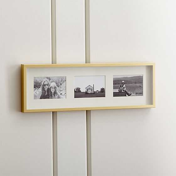 Brushed Brass 3-4x6 Wall Frame - Crate and Barrel