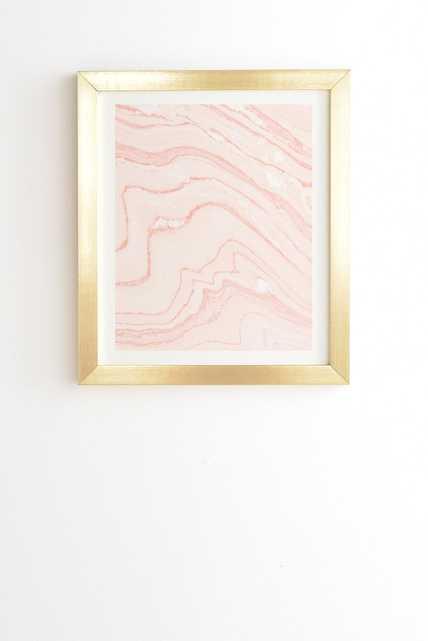 BLUSH MARBLE Framed Wall Art -Framed with mat - Wander Print Co.